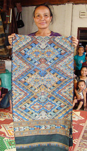 Mirror image patterning in a shaman cloth.
