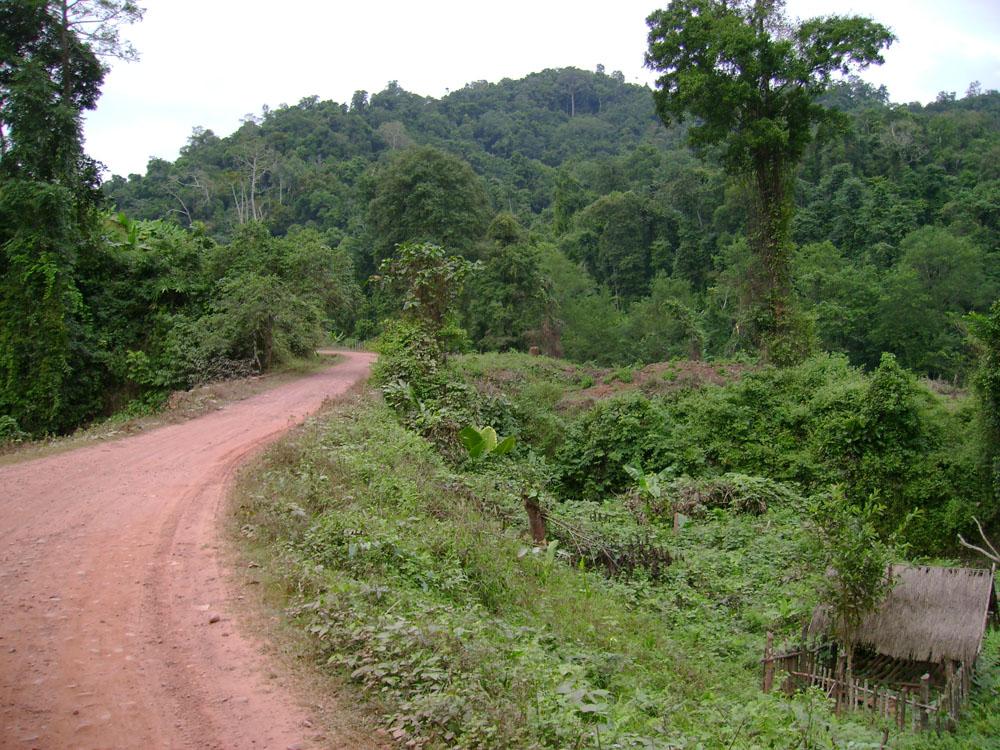 The highway to Phongsali, Laos.