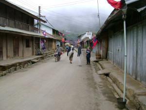 Downtown Phongsali, Laos, on a slow day.