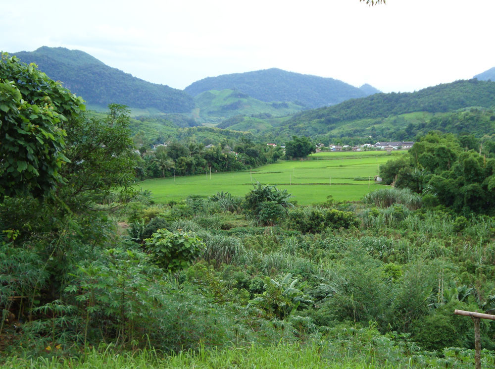 A beautiful village valley in Houaphon Province.