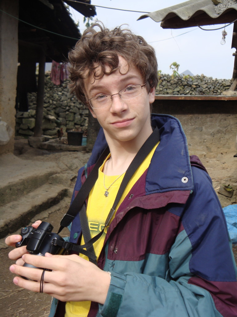 Zall, with a quizzical look, hard at work in Vietnam last year.
