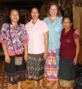 Phut, Souk, Maren and Sukkhavit in Phut's house.
