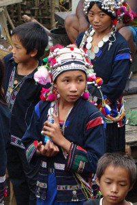 Akha women and children in NW Laos.