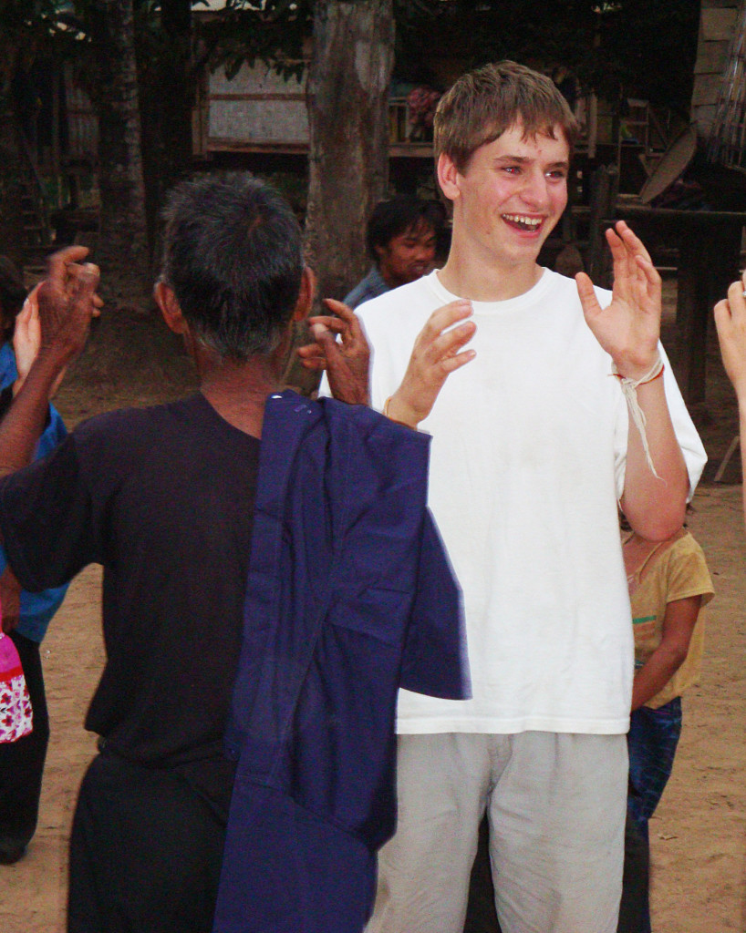 Ari dancing with Katu villagers during their New Year's celebration (no pix yet from Ghana!).