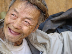 An elderly Hmong blacksmith who captured our attention in 2006. This photo is from 2008.