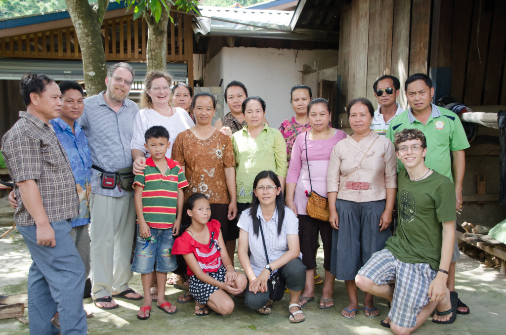 Our family has had the great fortune to become good friends and business partners with the world's finest natural silk artists who live in the Xam Tai dictrict iof Houaphon Province in NE Laos.