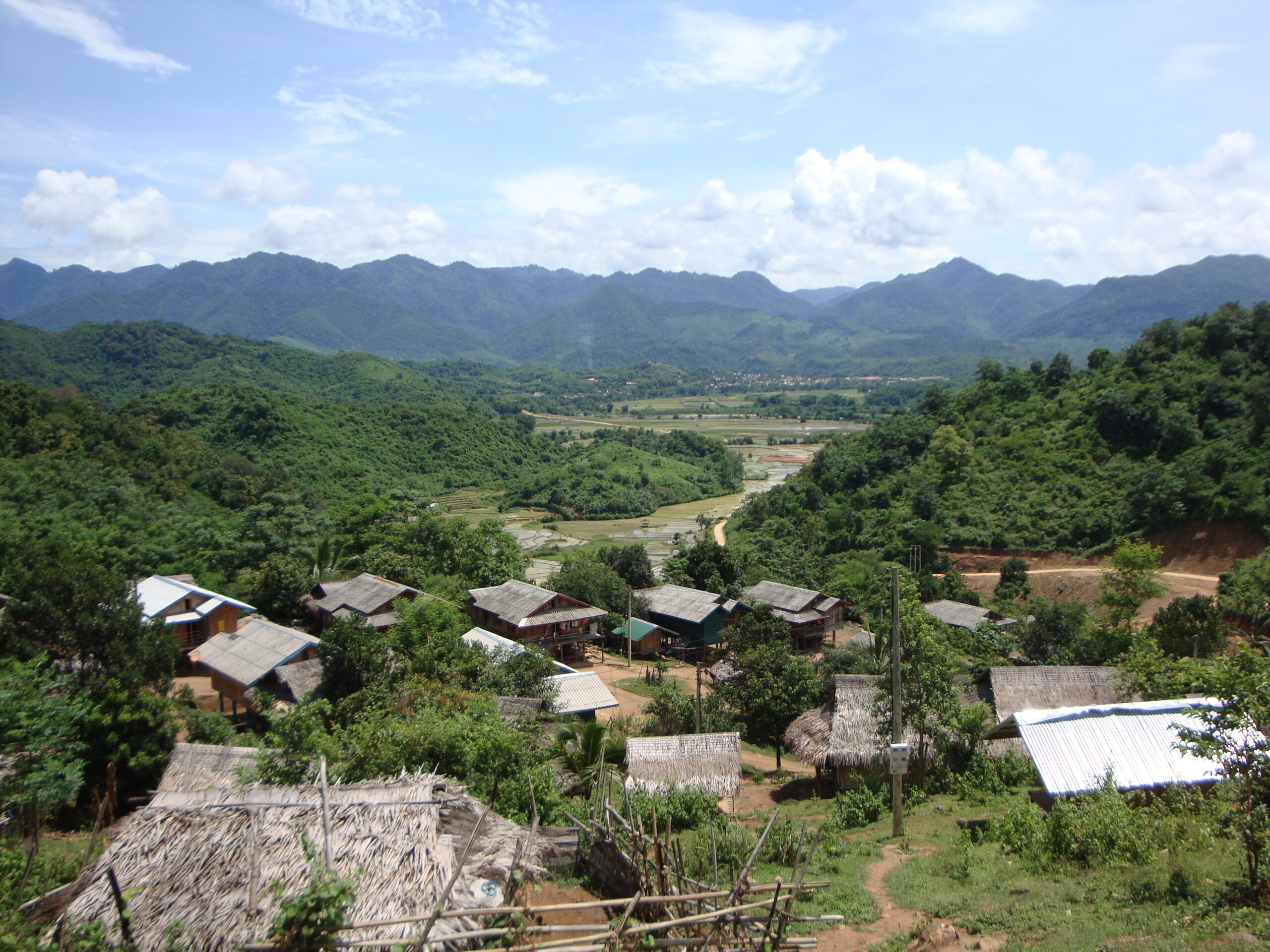 The beautiful and remote Xam Tai valley in Houaphon Province in NE Laos.
